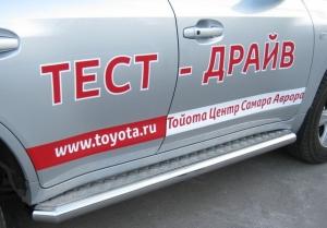 Toyota Land Cruiser 200 пороги труба  d 76 с листом  LCL-000209